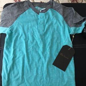 Copper denim brand boys size 6 short sleeve shirt
